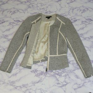 3/20$ Zara tweed and faux leather vest jacket